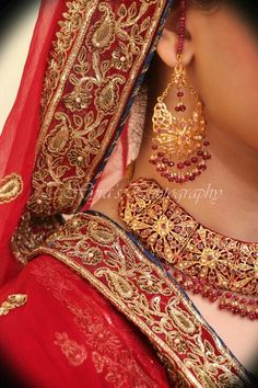 Beautiful red colour nd jewellery .....