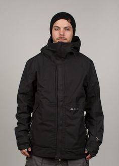 686 Mens Snowboard Jacket Glcr Vector Black