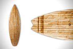Hermanns Veneer Stripes Surfboards | HiConsumption
