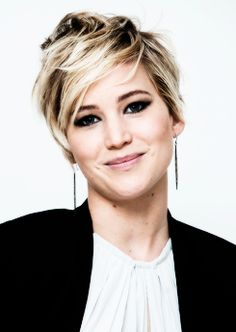 Jennifer Lawrence's Short Hair Cut 2014  Don't know if I'm brave enough to do this exactly but I LOVE IT!