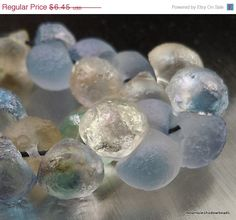 20% OFF Sale Czech Glass Bead Textured by mountainshadowdesign