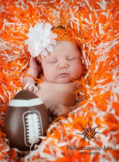 Newborn portraits, vols, reflections by jess, big orange, football.