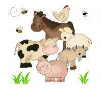 Barnyard Farm Animals Wall Art Mural Decal Stickers Baby Nursery