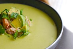 Chilled Fresh Pea Soup with Crab & Guacamole Salad | Always Order Dessert