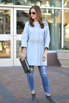 light blue outerwear  bishop&holland | a lifestyle blog