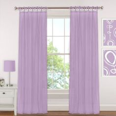 Transform your view with the Greta Crushed Sheer Tie Top Window Curtain Panel. The sheer design allows light to softly filter into the room, while the crushed texture provides a touch of privacy. A tie top panel adds to the breezy, relaxed look. Sheer Curtain Panels, Cool Curtains, Hanging Curtains, Window Panels, Curtain Fabric, Curtain Rods, Window Curtains, Teen Curtains, Purple Curtains
