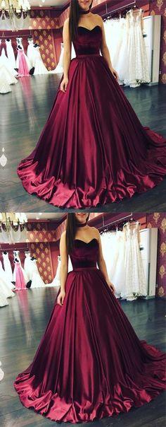 prom dress,prom dresses,burgundy prom dress, evening dress,2018 prom dress #eveningdresses