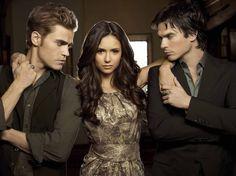 Stefan, Elena and Damon <3