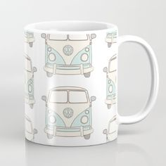 Mug featuring VW Bus - Blue by Little Moon Dance