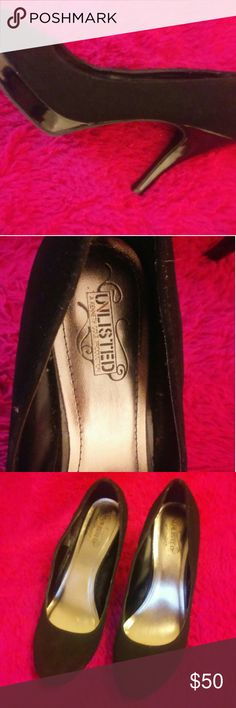 Unlisted Black Suede Pumps Size 11 worn twice no scuffs looks new. Unlisted Shoes Heels
