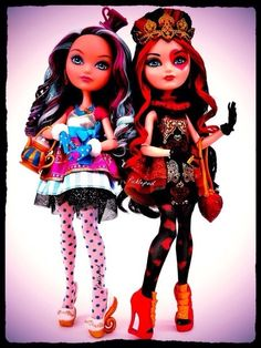 Ever after high Madeline hatter and lizzie hearts