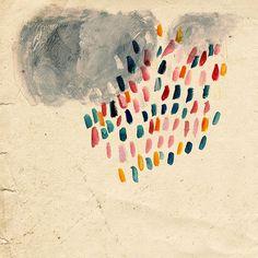 Rain ~ artist Lizzy Stewart  #art #journal
