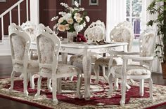 Elegant European style dining table - MelodyHome.com