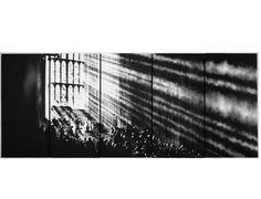 Robert Longo, Untitled (Cathedral of Light), 2008<br/>Charcoal on mounted paper, 119-7/8 x 59-3/4 inches (each panel) 300 x 148 cm<br/>Image © Robert Longo, Courtesy Metro Pictures, New York <br/>