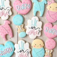 66 Ideas For Baby Reveal Cake Ideas Sugar Cookies Baby Cookies, Baby Shower Cookies, Royal Icing Cookies, Sugar Cookies, Nurse Cookies, Pregnancy Gender Reveal, Baby Gender Reveal Party, Gender Party, Gender Reveal Cookies