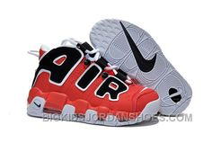 "e7d694181c9367 Womens Nike Air More Uptempo GS ""Hoop Pack"" Varsity Red Black-White Super  Deals T2cW6"