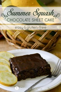 This easy, gluten-free Summer Squash Chocolate Sheet Cake is a great ...