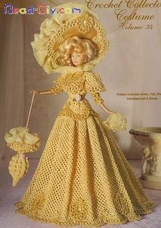 Barbies com vestidos de croche