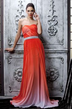 Gorgeous Strapless A-Line Floor-Length Sequins Polina's Evening Dress