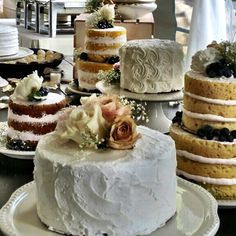 These wedding cakes were amazing! Delicious too.