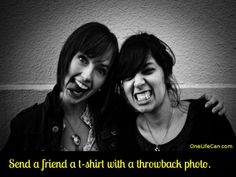 Mindful Act of Kindness - Send a Friend a T-Shirt with a Throwback Photo