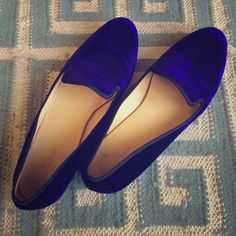 Cole Haan Sabrina Loafer Purple Velvet Gorgeous velvet loafer. Worn maybe 5 times, in excellent pre-owned condition. No odors! The photos seem to look a little more blue, but they are indeed very purple. Cole Haan Shoes