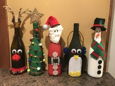 100 Cheap Dollar Store Christmas Decor Ideas in your budget - Ethinify dollar store glass crafts Christmas Projects, Holiday Crafts, Christmas Crafts, Christmas Decorations, Cheap Christmas, Christmas Sweets, Recycled Wine Bottles, Painted Wine Bottles, Decorated Wine Bottles