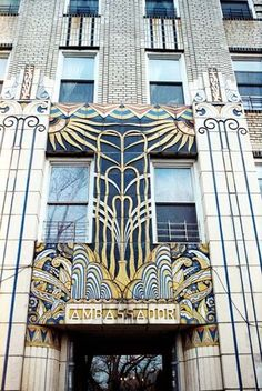 Image result for art deco NYC colored terra cotta
