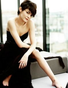 Picture of Audrey Tautou Audrey Tautou, Audrey Hepburn, Short Hair Cuts, Short Hair Styles, Pagent Hair, Actrices Hollywood, French Actress, Famous Women, Great Hair