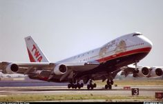 Trans World Airlines (TWA) Boeing 747-131 departing New York-JFK, 1997