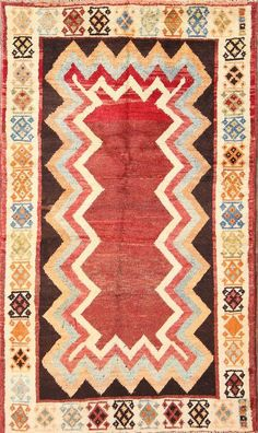 """awesome Uncommon Geometric Ornamental 3x6 Gabbeh Persian Space Oriental Rug 5' 11"""" x three' 5"""" Check more at https://aeoffers.com/product/arts-and-crafts-collectibles-handmade-online/uncommon-geometric-ornamental-3x6-gabbeh-persian-space-oriental-rug-5-11-x-three-5/"""