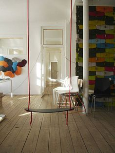 inspiration gallery: indoor swings apartment therapy dc