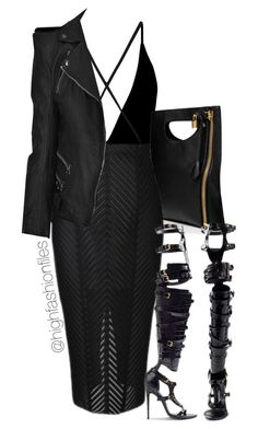 """""""On the Edge"""" by highfashionfiles ❤ liked on Polyvore featuring Oh My Love, Tom Ford and Balmain"""
