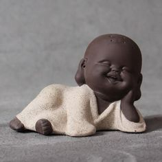 Chilled Out Monk Tea Pet Figurine