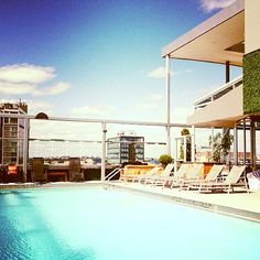 Don't be shy, the water's warm. #Rooftop #Pool