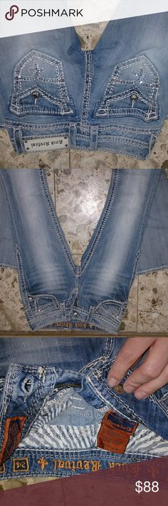 24 Rock Revival Scarlett buckle slim boot EUC Excellent condition jeans true to size on the smaller side Rock Revival Jeans Boot Cut