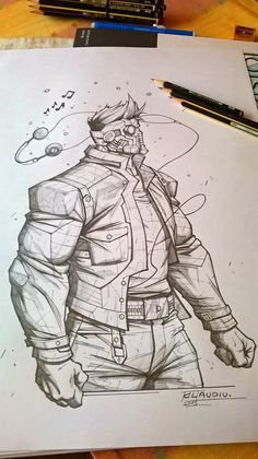 A Great New Year to everyone!!! Here's a pencils piece with StarLord. Enjoy and have fun! Instagram Facebook COMMISSIONS Journal