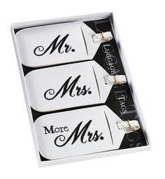 Lillian Rose TR650 MM Set/3 Mr & Mrs Luggage Tags
