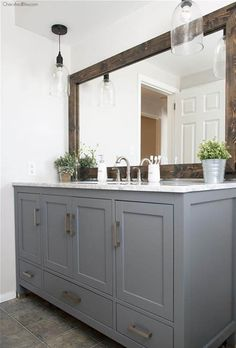 this industrial farmhouse bathroom is the perfect blend of styles and creates such a cozy atmosphere come see this amazing