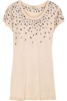 Issa Embellished jersey T-shirt   THE OUTNET