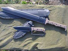 Miller Bros Blades Set: Custom matching M-2 Tactical Sword & M-8 Knife - Beast Mode!