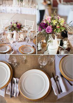 lavender and burlap reception #purpletabledecor @weddingchicks