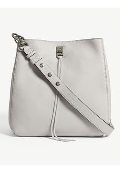 Two point adjustable and detachable leather shoulder strap with signature PISIDIA clasps Zip top closure Leather handles with leather base Cheap Purses, Purses For Sale, Cute Purses, Handbags On Sale, Purses And Handbags, Leather Shoulder Bag, Leather Bag, Leather Craft, White Leather
