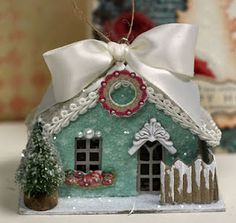 Hi there dear friends! It's the Day of Christmas and I have a couple of Christmas projects featuring Beautiful Dreamer papers and goodi. Christmas Village Houses, Christmas Town, Putz Houses, Christmas Makes, Christmas Villages, 12 Days Of Christmas, Vintage Christmas, Christmas Crafts, Christmas Decorations