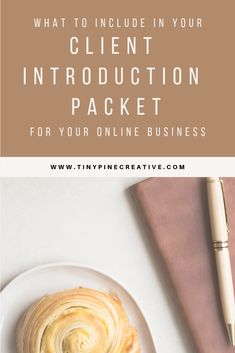What to Include in Your Client Introduction Packet for your Online Business Business Management, Management Tips, Welcome Packet, Online Business, Business Advice, How To Look Pretty, Create, Career Goals, Business Branding