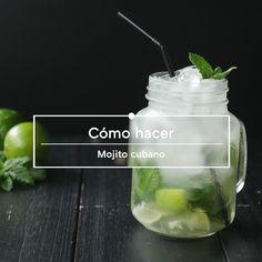 Mojito cubano, vídeo receta de cocina fácil, sencilla y deliciosa Mojito, Four, Ideas Fáciles, Desserts, Instagram, 4 H, Chips Recipe, Puff Pastry Tarts, Beverages