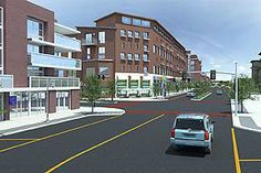 Proposed: Union and Broad Street intersection, looking north.