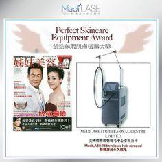 【MediLASE專業報導】  專業美容資訊雜誌SISTER BeautyPro 向MediLASE頒發「締造無瑕肌膚儀器大獎」,MediLASE率先引入全球最大755nm激光脫毛儀器放射機頭(24mm),醫學報告指出採用直徑24mm放射機頭比使用上一代18mm,療程時間縮短達70%,小腿部位僅需9分鐘的治療時間,相較於其他755nm激光脫毛儀器,GentleLase Pro LE 24mm成為療程時間最短而且效果最快的755nm激光脫毛儀器。  MediLASE 確保您享受到最舒適、安全的755nm脫毛服務,承諾只給您最好。  (報導來源: SISTER BeautyPro-Nov2013)  免費登記PRO-Test: http://t.cn/zHnXOjy  http://www.medilase.com.hk/