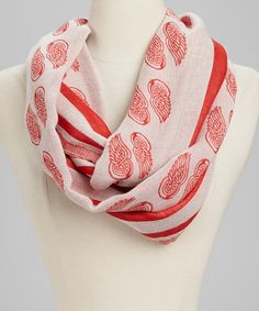 Red & White Detroit Red Wings Infinity Scarf