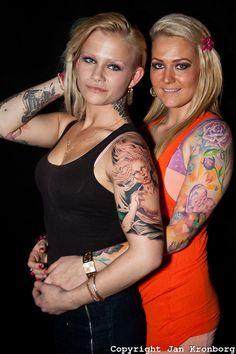 Copenhagen Inkfestival 2012. Two danish woman with sleeves.